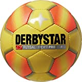 Derbystar Ballon de Football pour Foot en Salle Soft Pro/Jaune/Orange Taille 4...