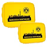 BVB Borussia Dortmund Brotbüchse Brotdose 2er Pack (one size, gelb)