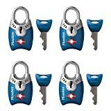 Master Lock 4689Q TSA Approved Luggage Lock, 4 Pack, Assorted...