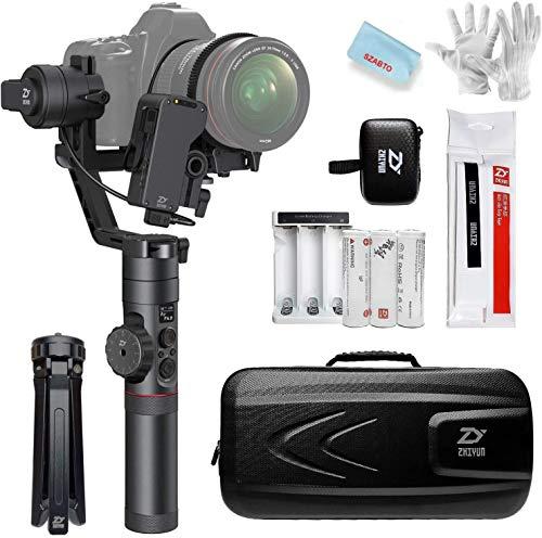 Zhiyun Crane Plus (Nouveau Crane V2) Gimbal Stabilisateur 3-Axes Pour Digital DSLR Mirrorless Cameras Avec Une Charge Utile De 5,5 Lb,Timelapse,Mémoire De Mouvement,Suivi Des Objets,FPV POV Mode