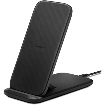 Spigen SteadiBoost Flex Convertible Fast Wireless Charger Stand 7.5/10/15W Works with iPhone 12 Pro/Max/Mini/11/XS/XR/X and Galaxy Note 20/S20/S20+/Ultra/FE/Z Flip/Fold 2 (No AC Adapter Included)