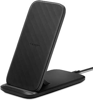Spigen SteadiBoost Stand, Qi スタンド ワイヤレス充電器 急速充電 無線充電器 折り畳み式 15W iPhone 12 Mini Pro Max SE 2020 11 11 Pro 11 Pro Max XS XR ...