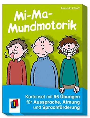 Mi-Ma-Mundmotorik: Kartenset mit 50 Übungen für Aussprache, Atmung und Sprachförderung