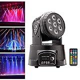 UKing Cabeza Movil LED,Luz de Fiesta 7x10 Vatios RGBW LED con Los Modos de Control Coche/Control...