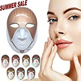 Crebeau 7 Color Led Face Mask with Touch Keys, Photon Led Light Therapy Facial Skin Care Mask For Healthy Skin Rejuvenation, Collagen, Anti Aging, Wrinkles, Scarring