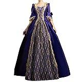 Womens Rococo Dress Medieval Renaissance 1800s Dress for Women Victorian Ball Gown Purple M