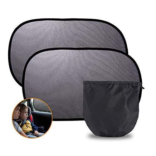 Yizhet 2 Pezzi Tendine Parasole Auto Bambini, Parasole Auto Universali Autoadesivo Parasole Bambini Finestrini Laterali Protezione Solare Raggi UV, Tende da Sole per Esternoper Auto (51 x 31cm)