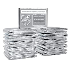 BULK MYLAR EMERGENCY BLANKETS - Advanced dual-sided aluminized mylar blankets in Silver color. BULK SAVINGS - Our same top-performing individually wrapped blankets, in bulk savings quantities. LIGHTWEIGHT AND DURABLE - Military-grade 12-micron alumin...