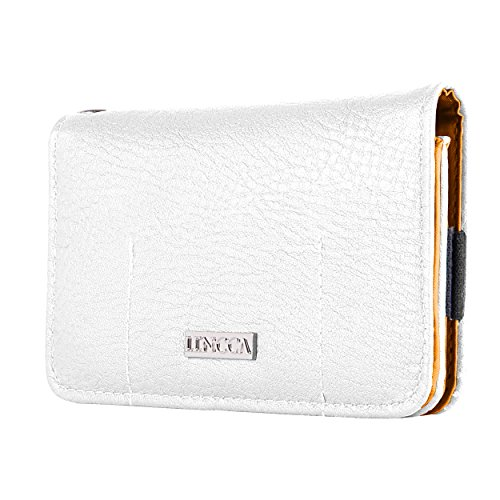 Lencca Kymira II White Orange Wristlet Wallet Case Suitable for BlackBerry Priv / DTEK50 / Leap/Keyone