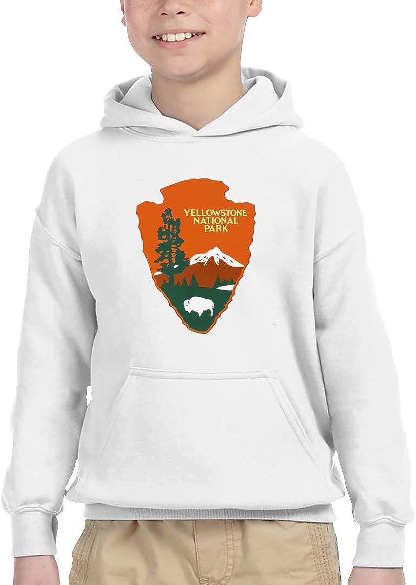 ZooJane Children's Classic Hiking Hoodies Print Yellowstone National Park