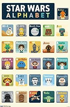 Trends International Star Wars  Saga - Alphabet Wall Poster 22.375  x 34  Premium Unframed Version