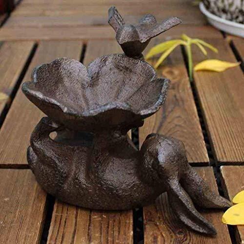 ShiSyan Moldeada Europea del Arte del Hierro Conejo Flor del pájaro del cenicero del sostenedor de Vela de Aves Fuente alimentaria de Almacenamiento decoración del hogar Adornos Ceniceros