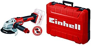 Einhell 4431142 Axxio Cordless Angle Grinder with Einhell 4530049 E M55/40 Power Tool Carry Box, Red, Werkzeugkoffer M