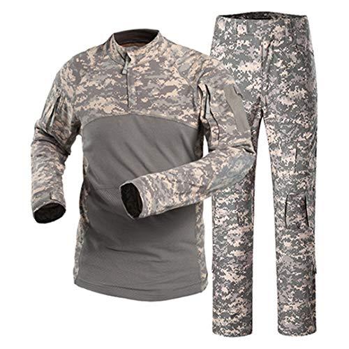 Männer Militärkleidung Sets Camouflage Combat Special Force Anzüge Paintball Jacken Hosen Keine Pads ACU XL