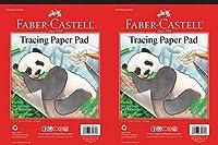 Faber-Castell トレーシングペーパーパッド (9 x 12インチ (2パック) 透明 )