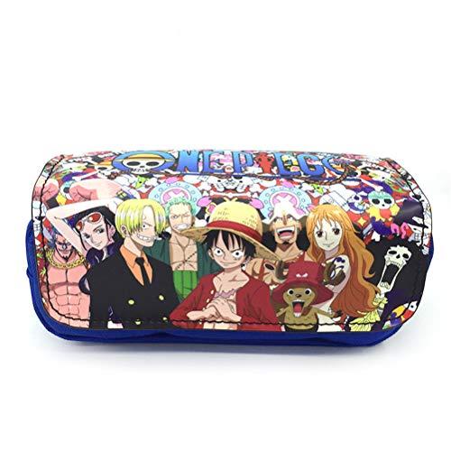 One Piece Chapeau De Paille Luffy Stylo Sac Ombre Boîte De Rangement Crayon Trousses