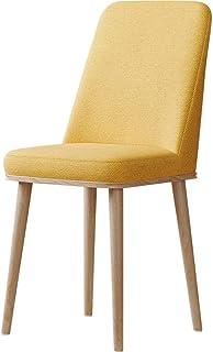 YUMUO Sillas de Comedor Asiento y Respaldo Acolchados Suaves con Patas de Madera Sillas de Cocina Resistentes para sillas de Comedor y Sala de Estar (Color: Gris, tamaño: A)