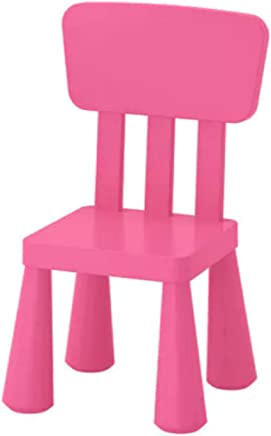 IKEA Mammut 803 823 21 High Back Plastic Children s Chair Suitable for Indoor and Outdoor Use Colour Pink