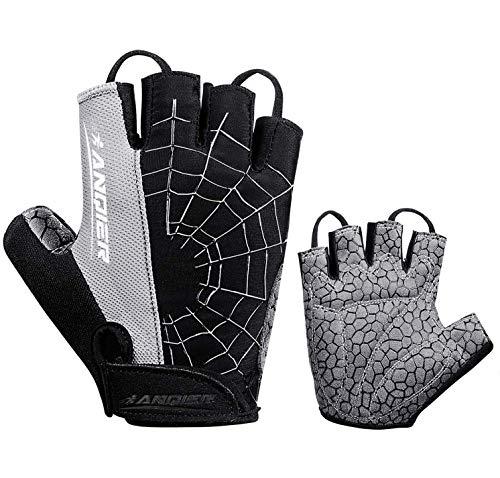 coskefy Fahrradhandschuhe Herren DamenFitness Handschuhe Gepolsterte Atmungsaktive rutschfest Mountainbike Radsporthandschuhe(Vollfinger & Halbfinger)
