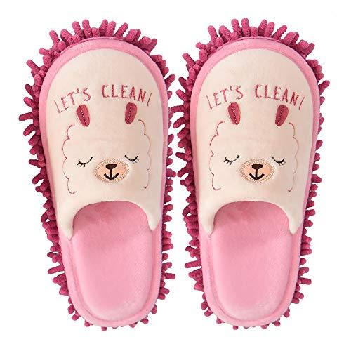 [Sanaris] スリッパ ルームシューズ 室内履き モップスリッパ お掃除スリッパ ほうき スリッパ 掃除 暖かい 洗えるスリッパ 歩きやすい 洗濯可スリッパ