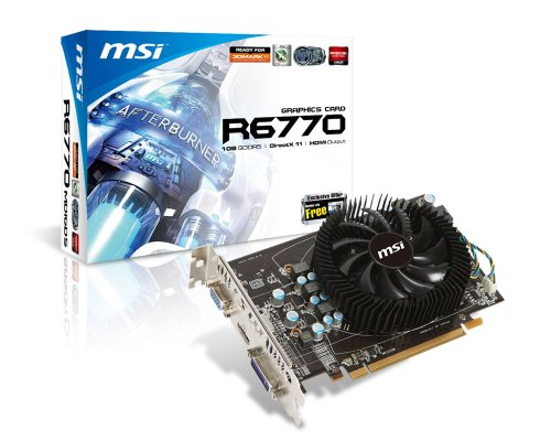 MSI R6770-MD1GD5 Grafikkarte (AMD Radeon HD 6770, PCI-e, 1GB, GDDR5 Speicher, Dual-DVI, HDMI)