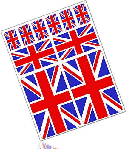 Biomar Labs® 10pcs Pegatina Reino Unido Britanica UK Inglesa Flag Bretaña Bandera...