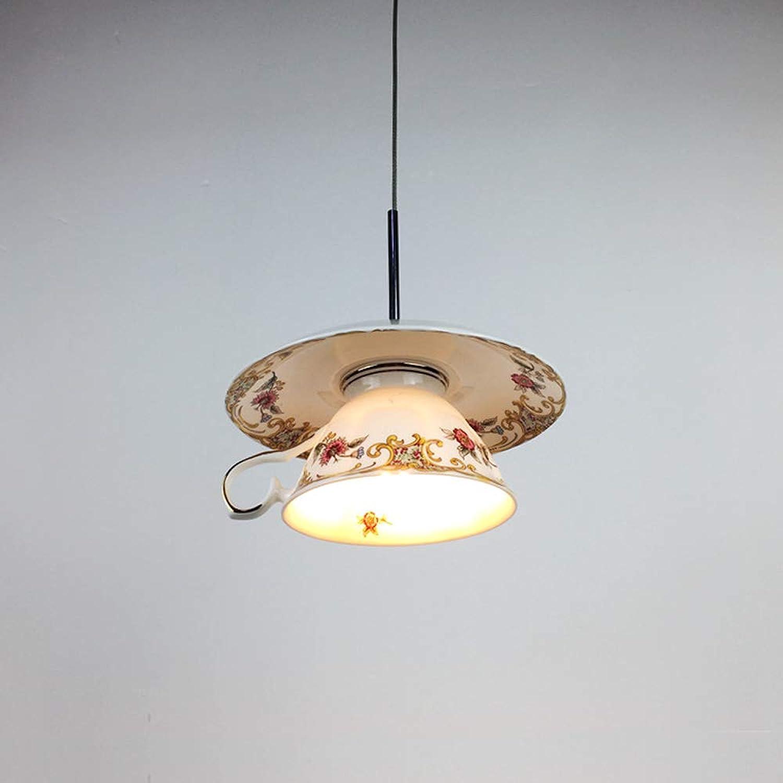 Rishx Nordic Kreative Keramik Kaffeetasse Deckenpendelleuchte Einzigartige Led Restaurant Theke Hngen Pendelleuchte Innendekorationen Suspension Droplight Leuchte