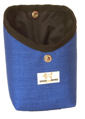 Dogs and More - TaschenTasche (Leckerlitasche/Leckerlibeutel/Futtertasche für die Jackentasche) in Blau