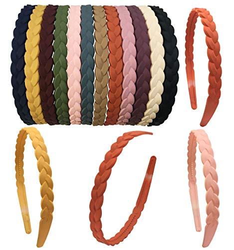 12 modische Haarbänder mit Zähnen für Frauen 15 mm Kunststoff Stirnbänder für Mädchen und Kinder