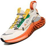 Mishansha Zapatillas de Running para Hombre Moda Casual Mujer Zapatos de Fitness Naranja 42