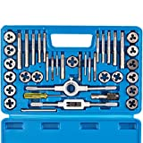 Orion Motor Tech 40-Piece Tap Die Set Metric - Home Improvement Tool Kit for Creating and Repairing Threading - Hand Tool Set for Craftsmen Mechanics and MORE with Metric Wrenches and Case