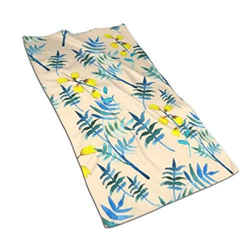 Badetuch mit Fotodruck, nahtloses Blumenmuster mit Aquarell (1) Waschlappen, ultraweich, saugfähig, schnell trocknend, für Badezimmer, Hotel, Spa, Kinder, Strand