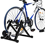 Goplus Bike Trainer Stand, Indoor Magnetic Exercise Bicycle Trainers with 8 Levels Resistance, Fluid...
