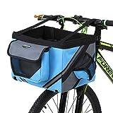 Lixada Bike Basket, Small Pet Cat Dog Carrier Bike Handlebar Front Basket -...