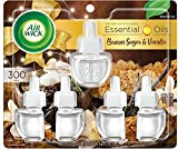 Air Wick Plug in Scented Oil 5 Refills, Brown Sugar and Vanilla, Fall scent, Fall spray, 0.67 Fl Oz (Pack of 5), Essential Oils, Air Freshener