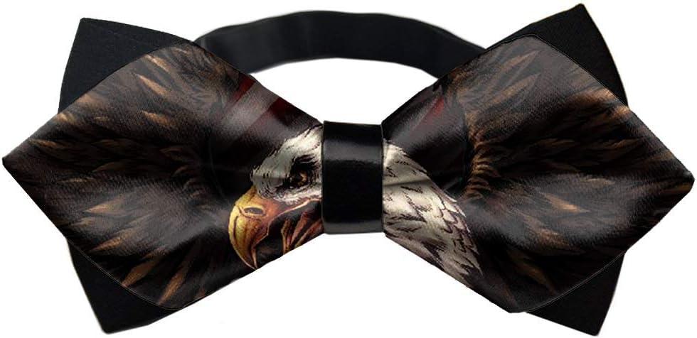 MrDecor American Eagle American Flag Formal Pre-Tied Bow Tie for Men - Adjustable Bowtie