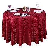Heheja Nappe de Table Satin Nappe Mariage Restaurant fête Nappe Mariage Cérémonie Vin Rouge 360cm