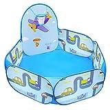 MAIKEHIGH Baby Bällebad mit Basketballkorb, Faltbar Pop Up Kinder Spielzelt Bällepool, Spielzeug Geschenk Indoor und Outdoor 47in (Bälle Nicht Inbegriffen)
