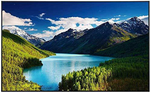 Ecowelle Infrarotheizung mit Bild | 900 Watt | 100x60x2cm | Infrarot Heizung| | Made in Germany | d 28 Colorado Berge und Wasser