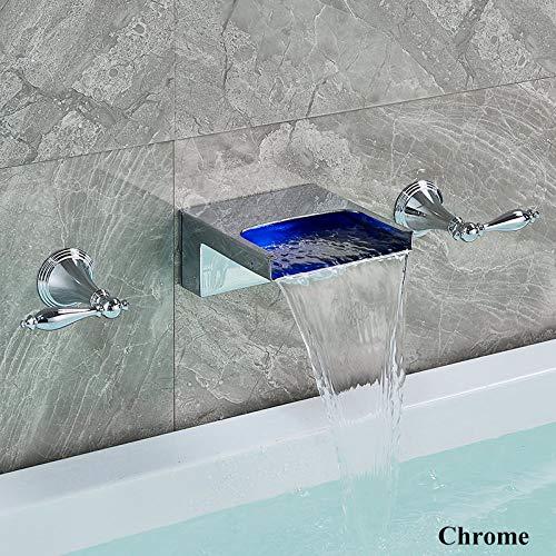 DAMO & GUYAN wastafelkraan, badkuipkraan, brons/chroom, zwart, wastafelarmatuur, mengkraan, badkamerarmatuur met grote badkuip, watermengkraan C