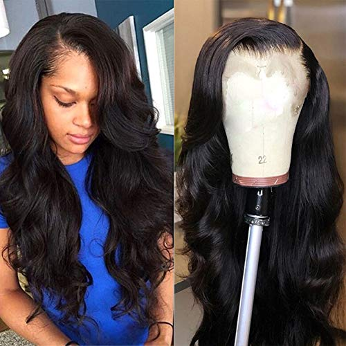 Foruiya 360 Glueless Lace Front Wig Pre Plucked Natural Hairline Brazilian Body Wave Human Hair 360 Lace Wigs with Baby Hair for Black Women (18 inch, 150% Density 360 Lace Front Wig)