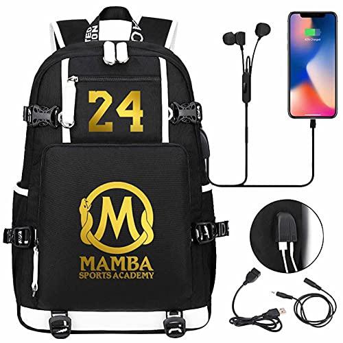 AGLT Mochilas para niños de la NBA Basketball Fan Student Bookbags luminoso paquete de hombro doble para hombres y mujeres, mochila de viaje, d8