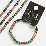 Wooden Childs Shell Neon Bracelet -