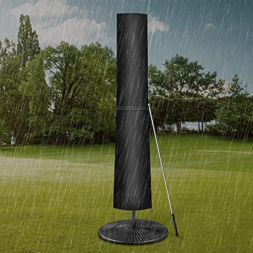 Dokon Sonnenschirm Abdeckung mit Stab, Ampelschirm Schutzhülle 1 bis 3 M Große Sonnenschirm Schutzhülle, Wetterfeste, UV-beständig, Schneesicher, 420D Oxford Gewebe Sonnenschirmhülle (190x30/40/50cm)