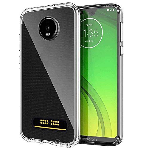 SKTGSLAMY Moto Z4 Case, Moto Z4 Play Case, Scratch Resistant TPU Rubber Soft Skin Silicone Protective Case Cover for Motorola Moto Z4 Play (Clear)
