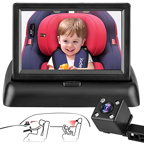 Baby Car Camera Mirror Safety Car Seat Camera for Rear Facing Infant with Wide Crystal Clear View 4.3'' HD Infrared Night Vision,Aimed at Baby, Easily Observe the Baby's Move