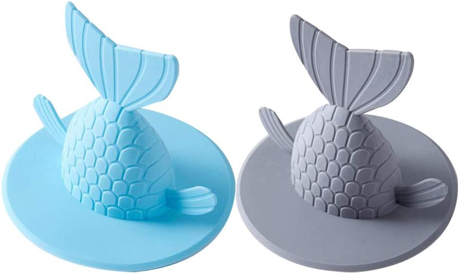 HEMOTON 2pcs Tub Stopper Industry No. 1 Plug Cover Bathtu Shape Spring new work Recyclable Fish