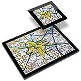 Destination 44151 - Mantel individual (vinilo, 20 x 25 cm, 10 x 10 cm), diseño de mapa de viaje de Arras City Francia