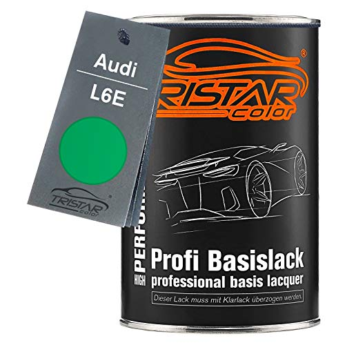 TRISTARcolor Autolack Dose spritzfertig für Audi L6E Grün Basislack 1,0 Liter 1000ml