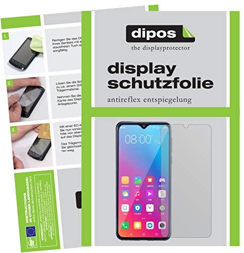 dipos I 2X Schutzfolie matt kompatibel mit Gionee Steel 5 Folie Bildschirmschutzfolie (bewusst Kleiner als das Glas, da Dieses gewölbt ist)